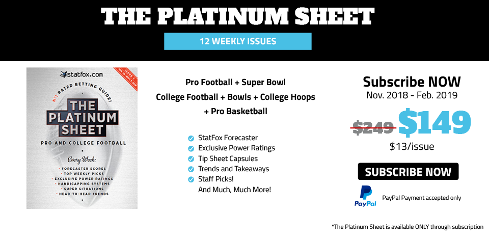 Platinum Sheet subscribe now