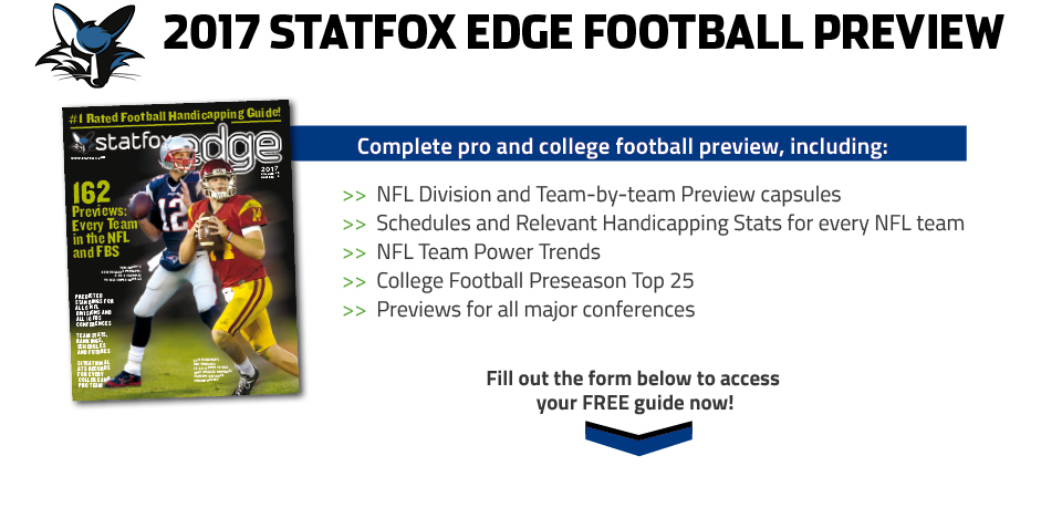 StatFox Edge 2017 Pro & College Football Preview